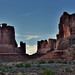 Sandstone Formations Lining Park Avenue (Arches National Park)