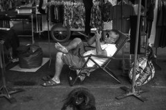 A man and his dog (FimRay) Tags: blackandwhite bw monotone monochrome thailand traditionalstreet street streetphotography people man dog dogs thai asian asia leica m240 50mm summilux f14 asph