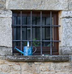 CORTS - FINESTRA AMB REGADORA (Joan Biarnés) Tags: corts pladelestany girona catalunya casa portas puertas finestras ventana 294 panasonicfz1000