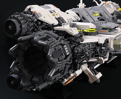 Ugly Duckling: Business End (Blake Foster) Tags: lego space spaceship microscale microspace moc ugly duckling afol starship engine rocket thruster greeble