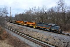 B&P 6072 Eastbound at West Pittsburgh, PA (bobchesarek) Tags: bprr hoppers coaltrain trains railroad buffalopittsburgh westpittsburgh csx