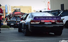 S13 Hatch (Unaffiliated Fam) Tags: unaffiliated fam super street superstreet mackin industries inc volk racing rays 2018 tribute car meet santa ana so cal socal southern california show swapped nissan 240sx 240 sx s13 hatchback drift