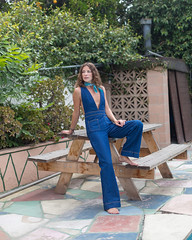 Pap (J Trav) Tags: hgtv pap backyard style portrait outdoors jumpsuit woman model blue denim