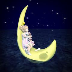 ~Floating on the Moon~ (Jo Yifu) Tags: bento cute kid secondlife sl td toddleedoo