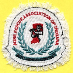 Indiana Mine Rescue Patch (Coalminer5) Tags: coal coalmining coalminer coalcollectible coalartifact mining minerescue rescuecontest rescuecompetition indianacoal smokeeaters drager draegerm draeger patch sewonpatch