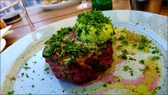 Security interview. (Papa Razzi1) Tags: steaktartare grilled lightly lunch securityinterview july summer delicious yummy 2018