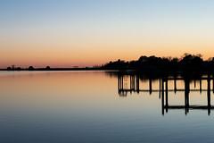 Hampton Sunsets (deedeedet) Tags: sunsets nikon d3200 hampton virginia water reflection silhouette pink blue orange pier 50mm f18 colors
