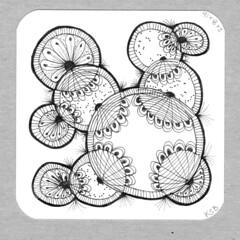 Zentangle 16Feb08 (Pentadactyl Mammal) Tags: doodles zentangle