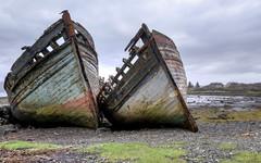 Boat Graveyard (perkster24) Tags: scotland scotish boat boats disintegrating travel travelphotography hdr hdrphotography fuji fujixt2