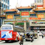 Street cars entering the Manila chinatown thumbnail