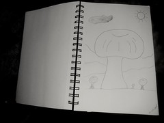 Happiness (PhotoJester40) Tags: indoors inside beingcreative drawing clouds mushrooms scenery amdphotographer