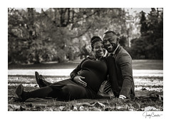 Moments of joy and happiness (cornelis1980) Tags: couple people image photo picture photography fujifilm portrait leafs fall forest autumn smile monochrome warm tones pregnant maternity shoot blanket love