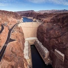 Hoover Dam, Nevada / Arizona USA (RattyBoots) Tags: hooverdam nevada arizona border coloradoriver december2018 lasvegastrip canon canon24105 6shotverticalpano handheld