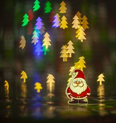 Holiday Bokeh - [MacroMondays_20181224] (Arranion) Tags: macromondays holidaybokeh macro monday mandays bokeh christmas tree themed holiday santa color colorful colour colourful canon 5d2 50mm niftyfifty f18 shapes shapedbokeh holidayspirit merry merrychristmas