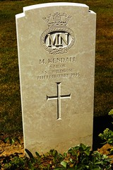 M. Kendall, Merchant Navy, War Grave, 1945, Bayeux (PaulHP) Tags: ww2 world war 2 headstone grave france bayeux military cemetery british normandy cwgc m kendall sailor mn merchant navy ss wildrose 7th february 1945 battle