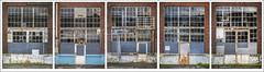 Five Doorways (NoJuan) Tags: doors doorway door old neglected windows sandpoint magnusonpark seattlewa washingtonstate pacificnorthwest microfourthirds micro43 mirrorless olympuspenf 35100mm panasonic35100 multiple multipleimages polyptych pentaptych