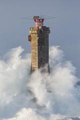 Nividic dans la tempête Carmen (cedric.cain29) Tags: cedriccaïn ouessant îledouessant iroise bretagne finistère phare lighthouse pharedenividic nividic lumièresdouessant rochers paysages bzh tempête pointedepern tempêtecarmen
