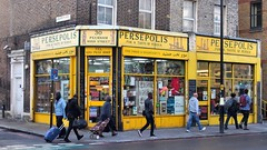 'For A Taste Of Persia' - Peckham, London SE15. (edk7) Tags: olympusomdem5 edk7 2018 uk england london londonboroughofsouthwark londonse15 30peckhamhighstreet persepolis store shop street people person architecture building oldstructure city cityscape urban words sign signage word
