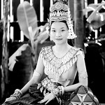 Apsara costume in black and white thumbnail