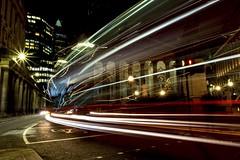 Two Christmas Trees (Douguerreotype) Tags: london uk dark christmas british buildings lights architecture city bank britain night bus gb urban england