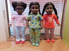 Gabby, Natalie, and Adora (dollpeople) Tags: american girl doll holiday christmas goty gabriela gabby tm truly me myag jly 47 31 46 natalie adora