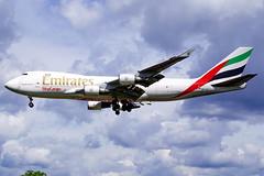 OO-THC  747-4HAF-ER-SCD Emirates ASL  Heathrow 30-04-2016 (Antonio Doblado) Tags: oothc 747 b747 jumbo cargo boeing emirates asl heathrow aviación aviation aircraft airplane airliner