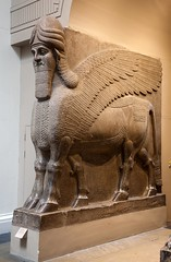 Assyrian art at the British Museum (archidave) Tags: london british museum britishmuseum assyrian sculpture statue bull winged lamassu