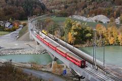RhB Hinterrhein Bridges (Kecko) Tags: 2018 kecko switzerland swiss schweiz graubünden graubuenden gr domat ems bonaduz reichenau tamins hinterrhein rhein river fluss rhine rhätischebahn rhaetian railway railroad bahn viafierretica rhb eisenbahn zug train brücke bridge soragiuvna hinterrheinbrücke swissphoto geotagged geo:lat=46822800 geo:lon=9410050