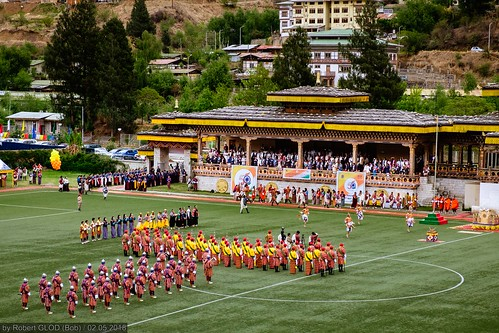 Thimphu - Teachers' Day Celebration at Changlimithang Stadium.