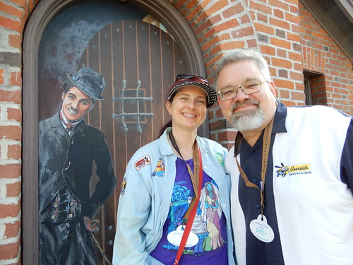 "Tracey and Scott with Charlie Chaplin at the Jim Henson Studio's Main Gate • <a style=""font-size:0.8em;"" href=""http://www.flickr.com/photos/28558260@N04/45079000724/"" target=""_blank"">View on Flickr</a>"