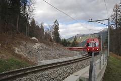 RhB Line Klosters-Davos (Kecko) Tags: 2018 kecko switzerland swiss schweiz graubünden graubuenden gr klosters platz prättigau davos rhätischebahn rhaetian railway railroad bahn viafierretica rhb zug train lokomotive locomotive 1755 bdt1755 swissphoto geotagged geo:lat=46869810 geo:lon=9878510