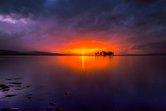 sunset 4094 (junjiaoyama) Tags: japan sunset sky light cloud weather landscape orange purple contrast color bright lake island water nature autumn fall calm dusk serene reflection sun