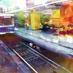 Candidplatz (Casey Hugelfink) Tags: munich münchen giesing candidplatz ubahn ubahnstation subway subwaystation lego legomania brickingbavaria bricks platform bahnsteig passengers fahrgäste waiting people legosteine modellbau gleise tracks metro metrostation train cats katzen moc messe spielwiesn fairtade competition exhibition