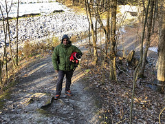 Morning walk through parts of Yves Rocher north-western trail (lezumbalaberenjena) Tags: yves rocher winter invierno hiver hiber nieve snow niege orleans lezumbalaberenjena 2018 dog perro chien bully boston terrier