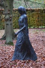 Walking Madonna (1981) (Bri_J) Tags: chatsworthhousegardens bakewell derbyshire uk chatsworthhouse gardens chatsworth statelyhome nikon d7500 autumn fall walkingmadonna elisabethfrink statue autumnleaves