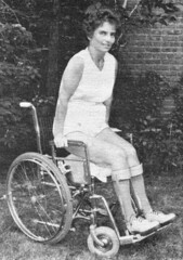 Polio wheelchair lady (jackcast2015) Tags: handicapped disabledwoman crippledwoman wheelchair paralysed poliogirl legbraces calipers polio woman poliowoman infantileparalysis