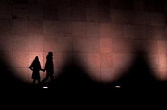 a walk on the beach (Gerrit-Jan Visser) Tags: bewerkt streetphotography color beach walk shadow people couple amsterdam