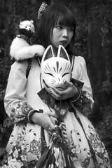 Japan - Kyoto (luca marella) Tags: japan kyoto girl fox animegirl anime cosplaygirl blackwhite bnw biancoenero bw lucamarella beauty manga culture street streetstyle bn japanesegirl foxgirl