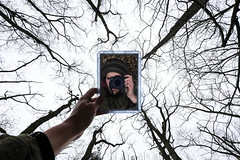 Mirror, Mirror... (CoolMcFlash) Tags: self portrait person tree man fujifilm xt2 mann baum bäume perspective perspektive pov fotografie photography spiegel xf1024mmf4 r ois kamera camera winter äste branches