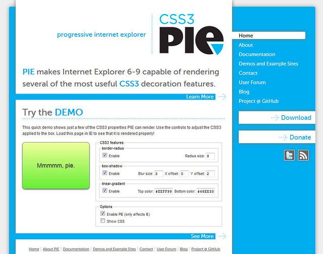 CSS3 PIEでCSS3未対応のIEにもCSS3を利用可能に