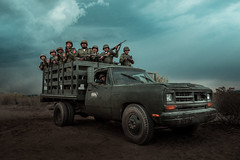 Army Ready (Luis Montemayor) Tags: narcosmexico narcos film tvseries set army sky clouds nubes cielo truck camioneta
