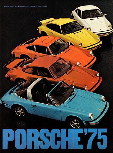 1975 Porsche Models, Ad Pg. 1