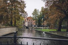 Bruges (sarahmu.) Tags: bruges brugge belgium belgique flanders river autumn fall cloudy