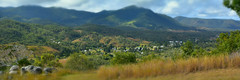 Mt Perry (Dreaming of the Sea) Tags: 2018 mtperry tamronsp2470mmf28divcusd nikond7200 panorama hills mountains greenleaves greengrass clouds bluesky queensland australia rocks