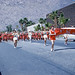 Slide of Fullerton Union High School Band of California in Parade,1950s