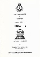 Crystal Palace v Everton 1990-91 - Zenith Data Systems - Final - Programme Of Arrangements (Bob Latchford) Tags: