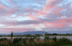 Pink & Blue (Patricia Henschen) Tags: blanca blancavista alamosa colorado park sunset clouds alpenglow wetland mountain mountains massif sangredecristo summer sanluisvalley lake