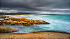 Taylors Lagoon Beach (niggyl (well behind)) Tags: tasmania eastcoasttasmania binalongbay skeletonbay bayoffires larapuna tasmansea seascape sea coastal beach waves water thesea contrejour backlighting sonyilce7rm2 sony sonyalpha7 sonya7rii a7rii zeiss zeissbatis2818 zeissbatis1828 zeisslens zeissemount batis batis18mm batis218 nikcollection cloud therebeastormabrewin cloudsstormssunsetssunrises cloudscape longexposure theethereallongexposure breakthroughphotography 10stopndfilter colorefexpro2 sand aqua aquamarine granite
