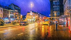 Rainy Day - 6379 (ΨᗩSᗰIᘉᗴ HᗴᘉS +38 000 000 thx) Tags: rainy rain bluehour pluie town road belgium europa aaa namuroise look photo friends be wow yasminehens interest eu fr greatphotographers lanamuroise flickering sonydscrx10m4