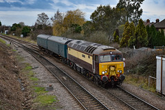 57312 - March West Junction - 12/01/19. (TRphotography04) Tags: ex northern belle drs liveried 57312 solway princess passes march west junction with barrier mk1s 6430 6433 working 5l46 0647 leicester lip ely mlf papworth sidings